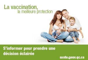 Photo d'une famille pour la Semaine de promotion de la vaccination : s'informer pour prendre une décision éclairée.