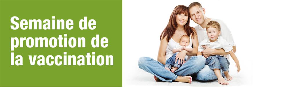 Bandeau Web Semaine promotion de la vaccination.