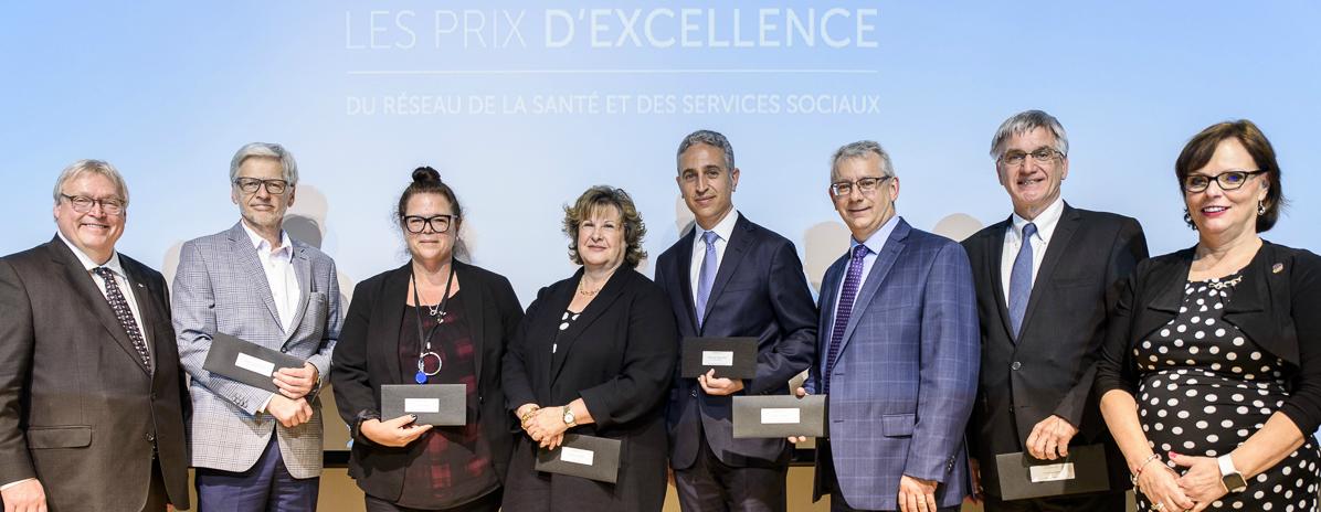 Photo des gagnants du prix hommage 2017, inondations.