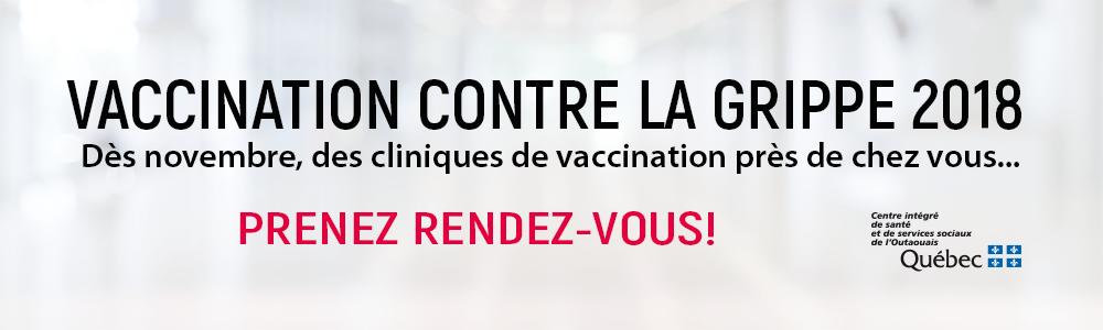 Vaccination contre la grippe 2018 : prenez rendez-vous!