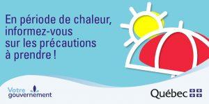 En période de chaleur, informez-vous sur les précautions à prendre!